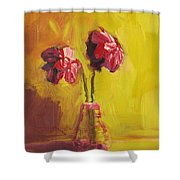 Purple Flowers Shower Curtain by Patricia Awapara