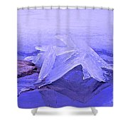 Purple Ice Shower Curtain by Randi Shenkman