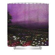 Purple Meadow Shower Curtain by Anastasiya Malakhova