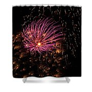 Purple Orbit Shower Curtain by Aimee L Maher Photography and Art