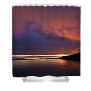 Purple Skies Shower Curtain by Heiko Koehrer-Wagner