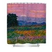Purple Sunset On The Blue Ridge Shower Curtain by Kendall Kessler