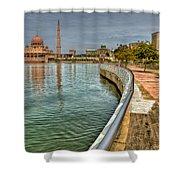 Putra Mosque Shower Curtain by Adrian Evans