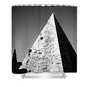 Pyramid Of Cestius Shower Curtain by Fabrizio Troiani