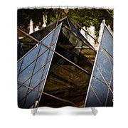 Pyramids Reflected Shower Curtain by Tom Gari Gallery-Three-Photography