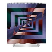 Quantum Conundrum Shower Curtain by Tim Allen