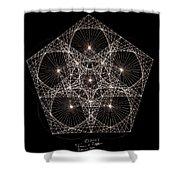Quantum Star II Shower Curtain by Jason Padgett