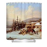 Quebec Shower Curtain by Cornelius Krieghoff
