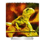 Queen of the Reptiles Shower Curtain by Ayse Deniz