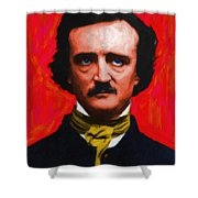 Quoth The Raven Nevermore - Edgar Allan Poe - Painterly Shower Curtain by Wingsdomain Art and Photography