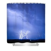 Rabbit Mountain Lightning Strikes Boulder County Co Shower Curtain by James BO  Insogna