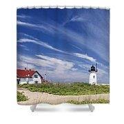 Race point Light Shower Curtain by Bill  Wakeley