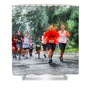Racing In The Rain Shower Curtain by Susan Savad