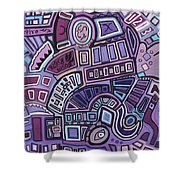 Radio Active Shower Curtain by Barbara St Jean
