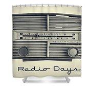 Radio Days Shower Curtain by Edward Fielding