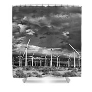 Rage Of The Wind Palm Springs Shower Curtain by William Dey