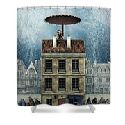 Rain Protection Shower Curtain by Jutta Maria Pusl