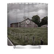 Rain Rolling In Shower Curtain by Heather Applegate