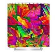 Rainbow Bliss 2 - Twisted - Painterly H Shower Curtain by Andee Design