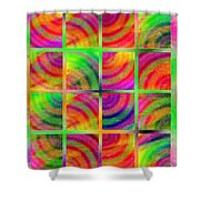 Rainbow Bliss 3 - Over The Rainbow V Shower Curtain by Andee Design