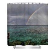 Rainbow Light Shower Curtain by Stelios Kleanthous