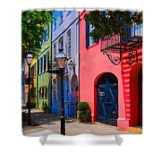 Rainbow Row Charleston Shower Curtain by Skip Willits