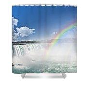 Rainbows At Niagara Falls Shower Curtain by Elena Elisseeva