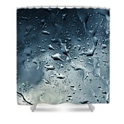 Raindrops Shower Curtain by Fabrizio Troiani