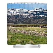 Ranching In Modoc Shower Curtain by Kathleen Bishop