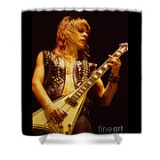 Randy Rhoads At The Cow Palace In San Francisco Shower Curtain by Daniel Larsen