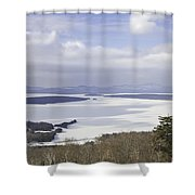 Rangeley Maine Winter Landscape Shower Curtain by Keith Webber Jr