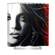 'Raven Vixon' Shower Curtain by Christian Chapman Art