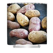 Raw Potatoes Shower Curtain by Elena Elisseeva