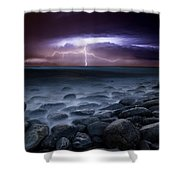 Raw Power Shower Curtain by Jorge Maia