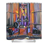 Raymond Vineyards Crystal Cellar II Shower Curtain by Donna Tuten