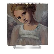 Reading Into Your Soul  Shower Curtain by Dorina  Costras