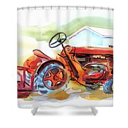Ready For Work  Shower Curtain by Kip DeVore