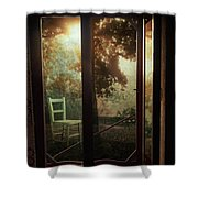 Rear Window Shower Curtain by Taylan Soyturk