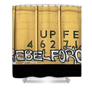 Rebel Force Shower Curtain by Donna Blackhall