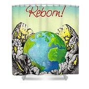 Reborn Shower Curtain by Anthony Mwangi