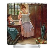 Recent News Shower Curtain by Haynes King