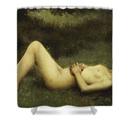 Reclining Nude Shower Curtain by Louis Courtat