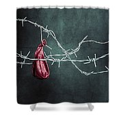 red balloon Shower Curtain by Joana Kruse