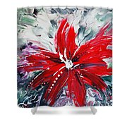 Red Beauty Shower Curtain by Teresa Wegrzyn