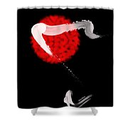Red Bull Shower Curtain by Cheryl Young