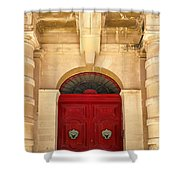 Red Door Shower Curtain by Maria Coulson
