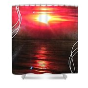 'red Earth' Shower Curtain by Christian Chapman Art