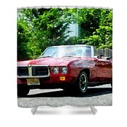 Red Firebird Convertible Shower Curtain by Susan Savad