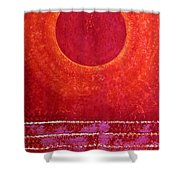 Red Kachina Original Painting Shower Curtain by Sol Luckman