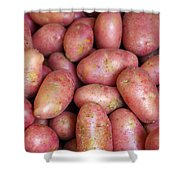 Red Potatoes Shower Curtain by Carlos Caetano